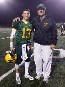 Congrats to Matt Stagnita on his record setting year as QB for Montgomery High School. In his first and only year as QB, Matt set a school record for completion percentage (62) while throwing for 1,600 yds!